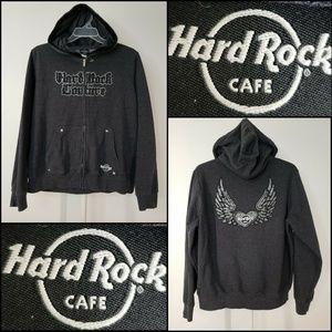 Hard Rock Cafe Women Hoodie Sweater Jacket Size XL